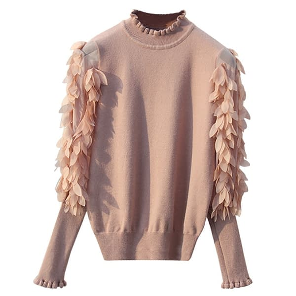 Women's Ruffled Knitted Sweater